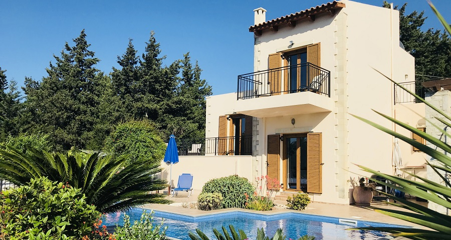 Almyrida, Kalyves villa, Chania, Crete, sleeps 6 with pool