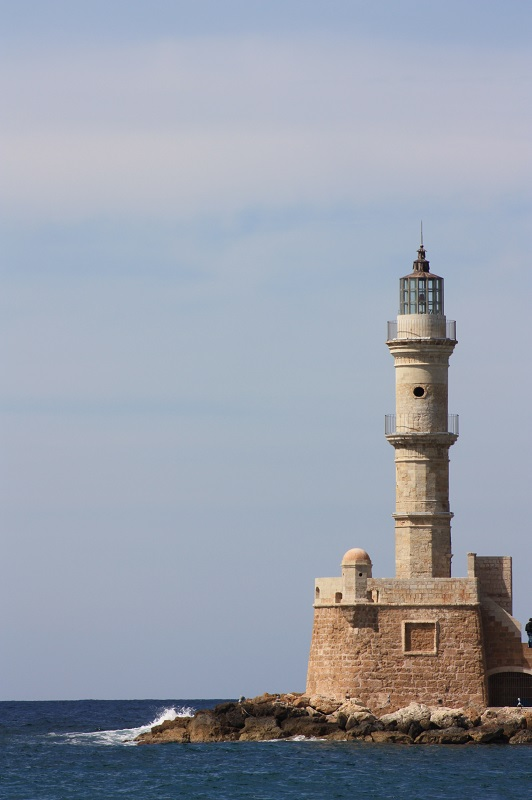 The lighthouse at Chania Venetian harbour